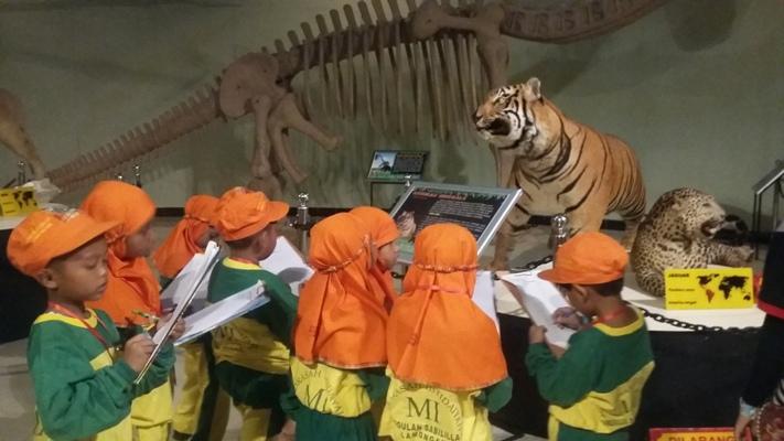 Siswa-siswi kelas 1 Mengamati Satwa di Museum Mazoola
