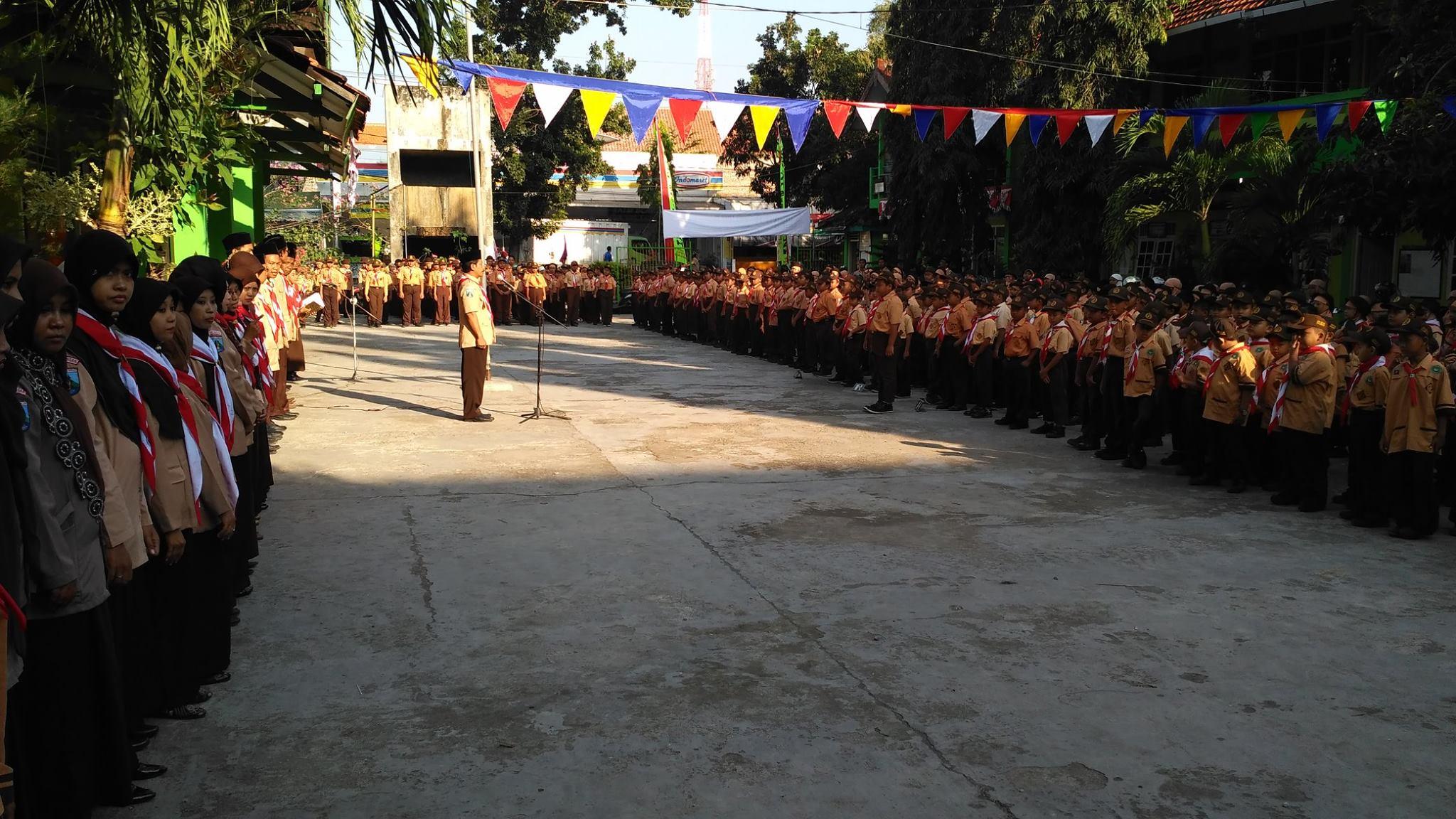 Suasana upacara HUT Pramuka ke-55